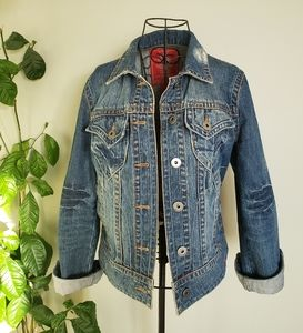 EDC by Esprit medium wash button down jean jacket